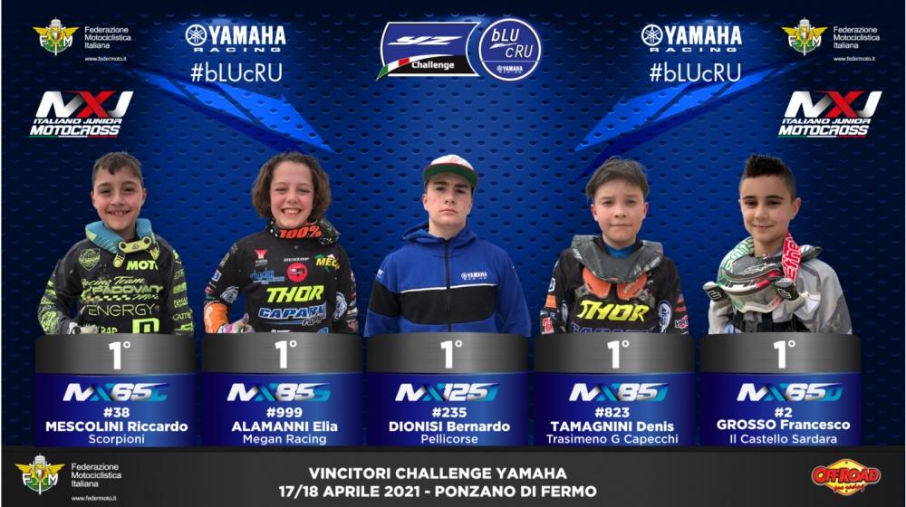 Challenge Yamaha YZ bLU cRU