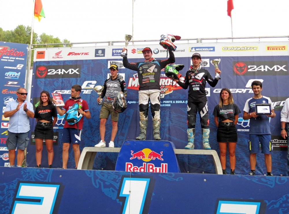 Podio MX2 al Santa Barbara