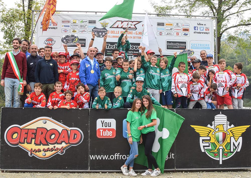 """Il podio finale del Trofeo delle Regioni """"Giampaolo Marinoni"""" 2017"""